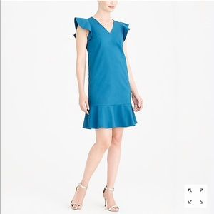 J. Crew Mercantile Blue Ruffle Tank Dress Size 2